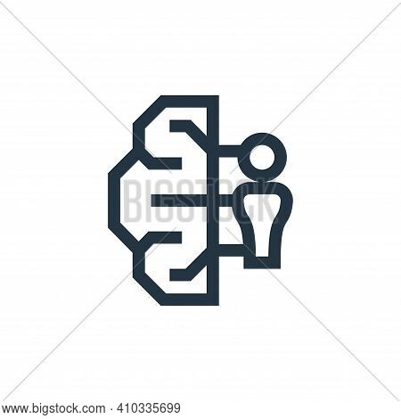 brainstorm icon isolated on white background from management collection. brainstorm icon thin line o