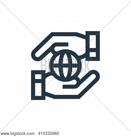 worldwide icon isolated on white background from charity collection. worldwide icon thin line outlin