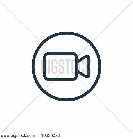 webcam icon isolated on white background from work office and meeting collection. webcam icon thin l
