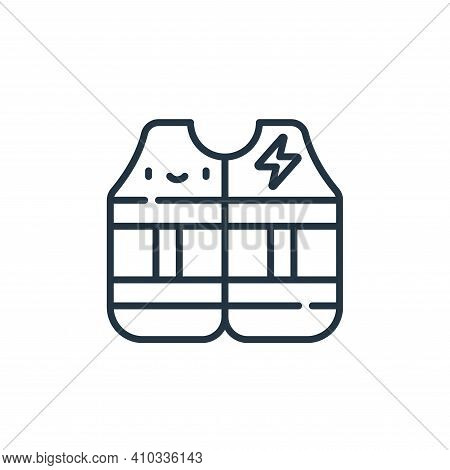 vest icon isolated on white background from electrician tools and elements collection. vest icon thi