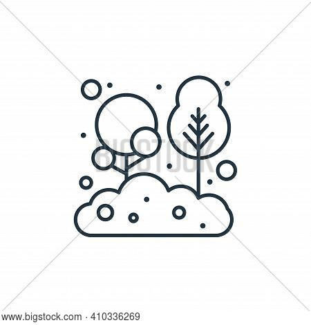 tree icon isolated on white background from earth day collection. tree icon thin line outline linear
