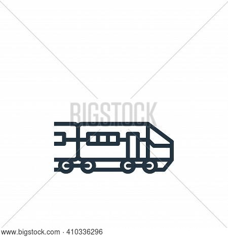 train icon isolated on white background from travel collection. train icon thin line outline linear