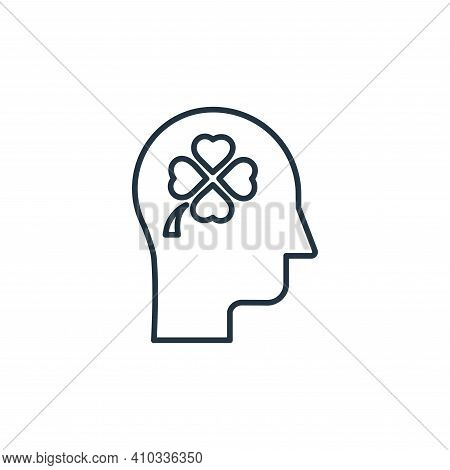 thinking icon isolated on white background from casino collection. thinking icon thin line outline l