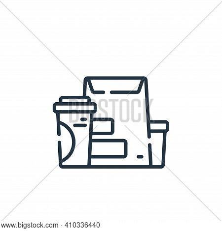 take away icon isolated on white background from coronavirus prevention collection. take away icon t