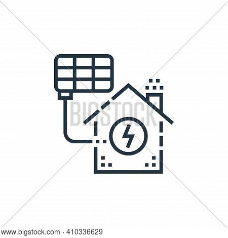 solar cell icon isolated on white background from smarthome collection. solar cell icon thin line ou