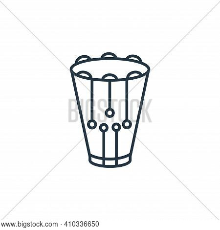 snare drum icon isolated on white background from music instruments collection. snare drum icon thin
