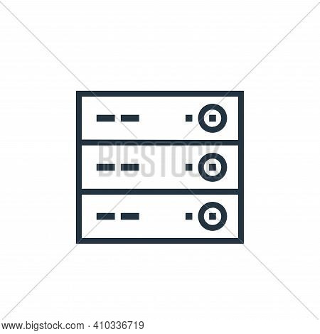 server icon isolated on white background from hardware collection. server icon thin line outline lin