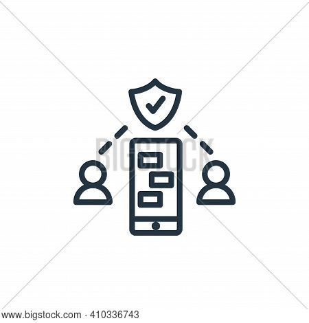 security icon isolated on white background from work from home collection. security icon thin line o