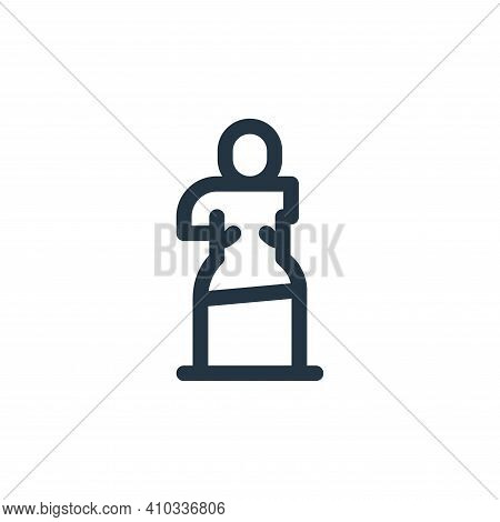 sculpture icon isolated on white background from europe collection. sculpture icon thin line outline