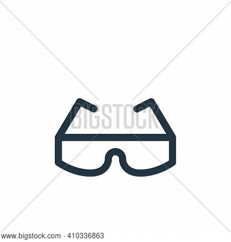 safety glasses icon isolated on white background from labour day collection. safety glasses icon thi
