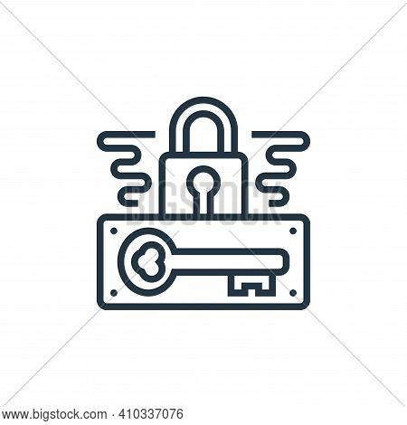 password icon isolated on white background from confidential information collection. password icon t