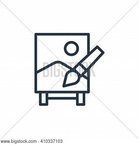 paint icon isolated on white background from stay at home collection. paint icon thin line outline l