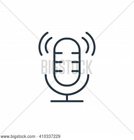 microphone icon isolated on white background from cinema collection. microphone icon thin line outli
