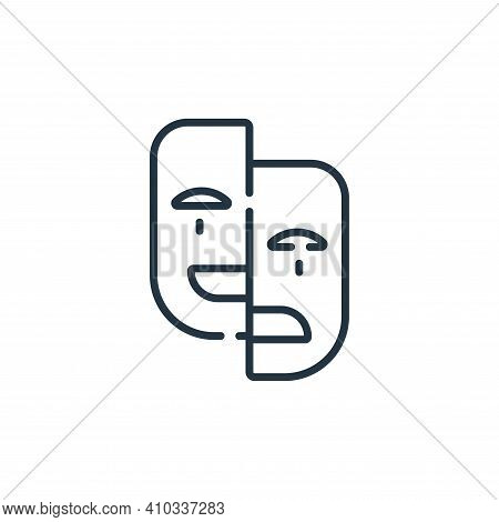mask icon isolated on white background from celebration collection. mask icon thin line outline line