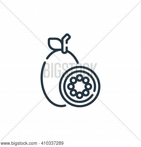 maracuya icon isolated on white background from mexico collection. maracuya icon thin line outline l