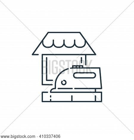 ironing icon isolated on white background from stay at home collection. ironing icon thin line outli