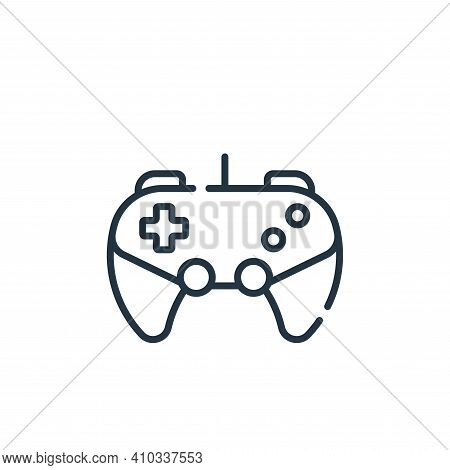 gaming icon isolated on white background from free time collection. gaming icon thin line outline li