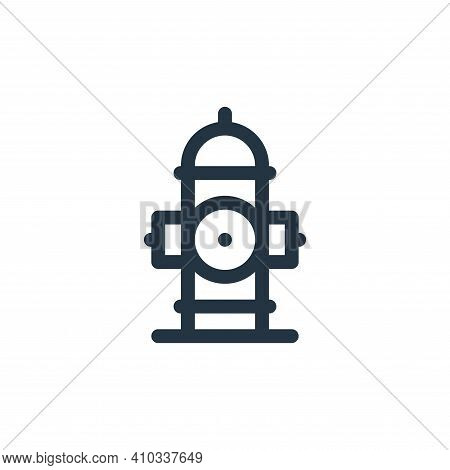 fire hydrant icon isolated on white background from emergencies collection. fire hydrant icon thin l