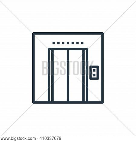 elevator icon isolated on white background from hotel collection. elevator icon thin line outline li