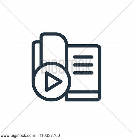 ebook icon isolated on white background from online learning collection. ebook icon thin line outlin