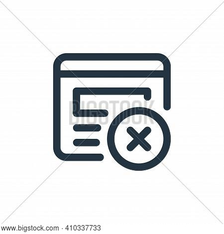 delete icon isolated on white background from web apps seo collection. delete icon thin line outline