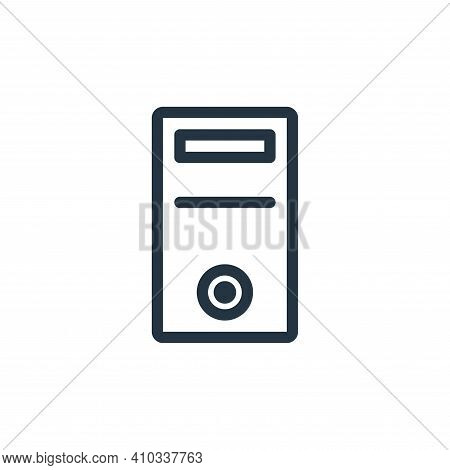 cpu icon isolated on white background from technology collection. cpu icon thin line outline linear