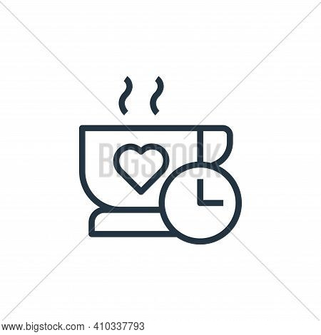 coffee time icon isolated on white background from stay at home collection. coffee time icon thin li