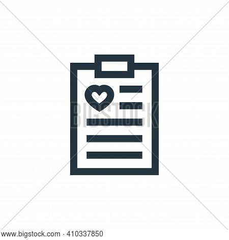 clipboard icon isolated on white background from charity collection. clipboard icon thin line outlin
