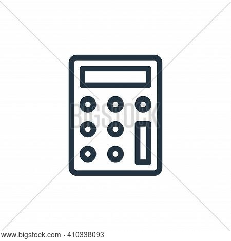 calculator icon isolated on white background from business collection. calculator icon thin line out