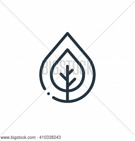 bio icon isolated on white background from ecology collection. bio icon thin line outline linear bio