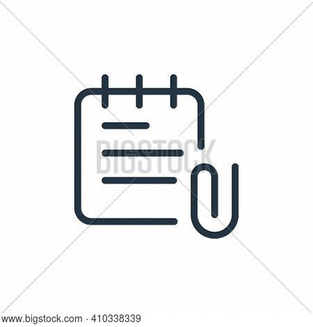 attachment icon isolated on white background from work office supply collection. attachment icon thi