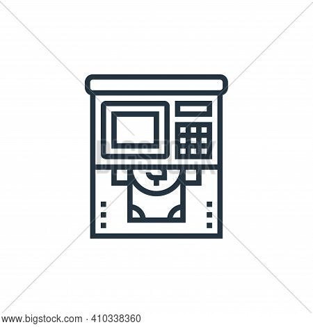 atm icon isolated on white background from payment element collection. atm icon thin line outline li