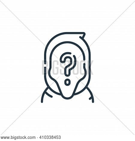 anonymous icon isolated on white background from fantastic characters collection. anonymous icon thi