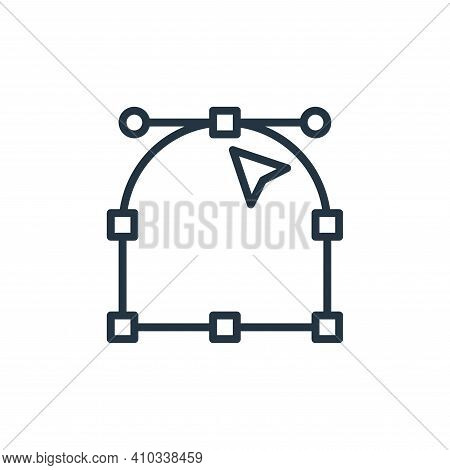 anchor point icon isolated on white background from graphic design collection. anchor point icon thi