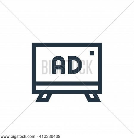 advertising icon isolated on white background from advertisement collection. advertising icon thin l