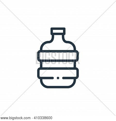 water bottle icon isolated on white background from plastic products collection. water bottle icon t