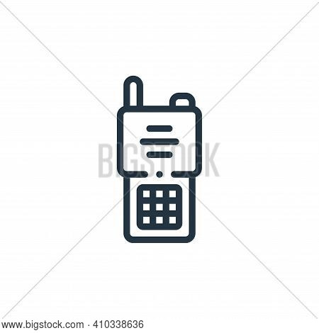 walkie talkie icon isolated on white background from taxi service collection. walkie talkie icon thi