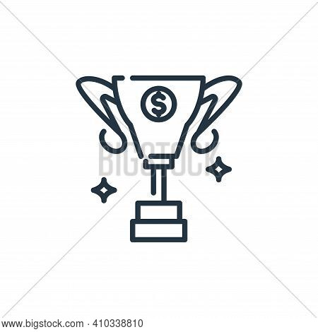 trophy icon isolated on white background from banking and money collection. trophy icon thin line ou