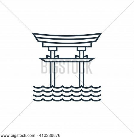 torii gate icon isolated on white background from tourism collection. torii gate icon thin line outl