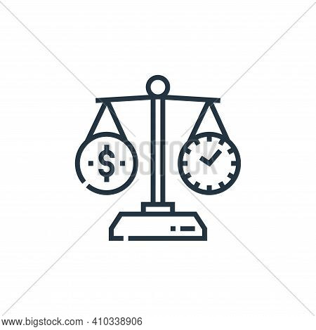 time icon isolated on white background from marketing collection. time icon thin line outline linear