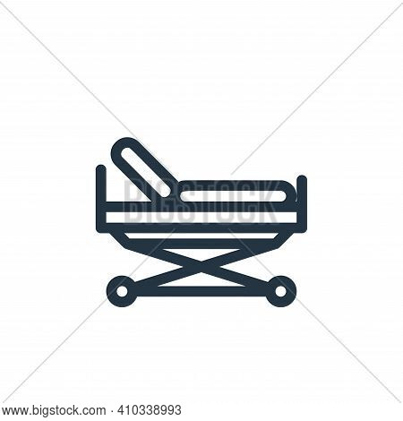 stretcher icon isolated on white background from medical tools collection. stretcher icon thin line
