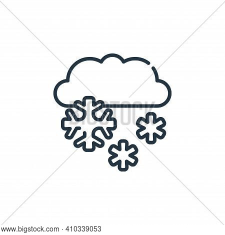 snow icon isolated on white background from climate change collection. snow icon thin line outline l