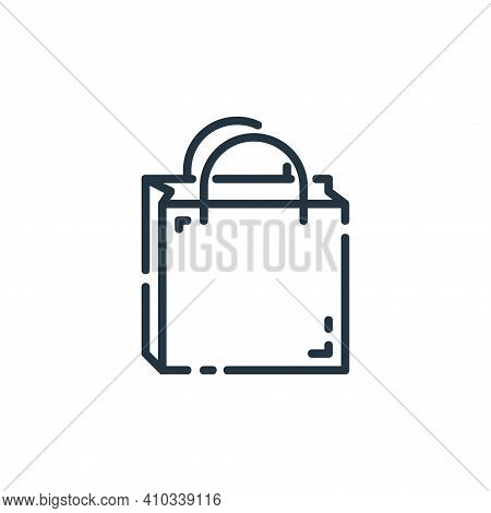 shopping bag icon isolated on white background from user interface collection. shopping bag icon thi