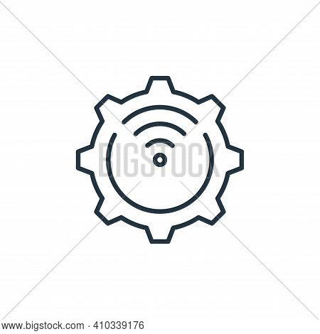 settings icon isolated on white background from internet of things collection. settings icon thin li