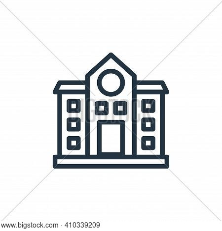 school icon isolated on white background from school collection. school icon thin line outline linea