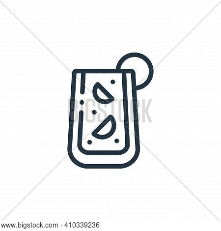 sangria icon isolated on white background from europe collection. sangria icon thin line outline lin