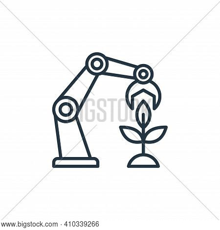 robot icon isolated on white background from smart farm collection. robot icon thin line outline lin