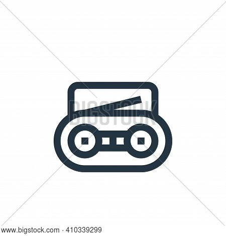 radio icon isolated on white background from news collection. radio icon thin line outline linear ra