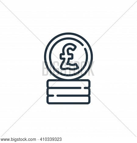 pound icon isolated on white background from england collection. pound icon thin line outline linear