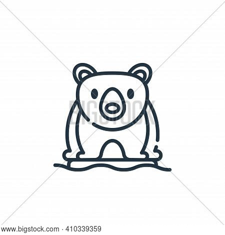 polar bear icon isolated on white background from climate change collection. polar bear icon thin li